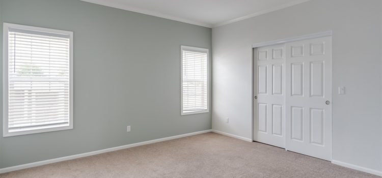 Master bedroom with large closet
