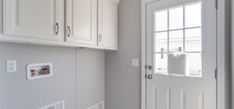Utility room with washer and dryer hookup