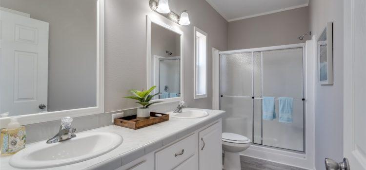 Master bath with dual vanities