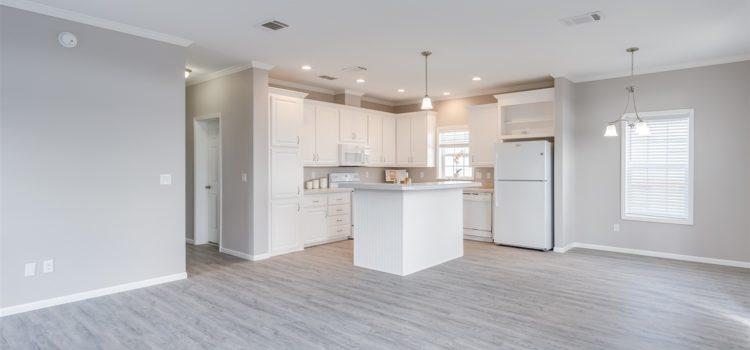 Open floor plan features spacious living