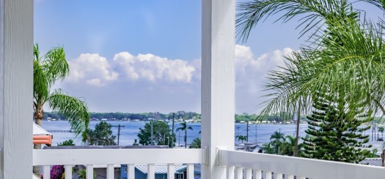 Take in the spectacular lake views from your porch