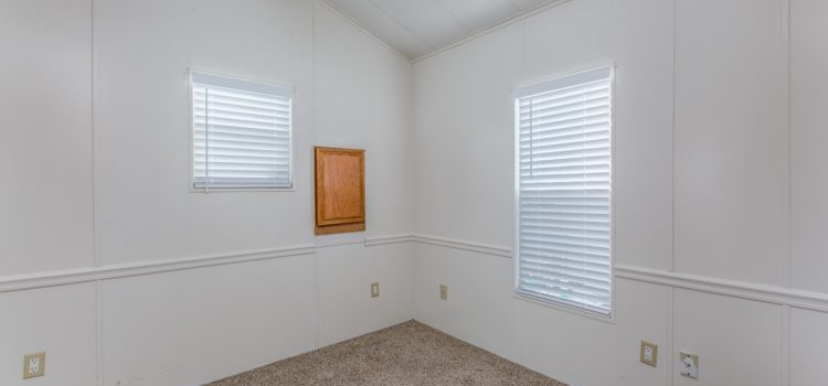 Bedroom with large window