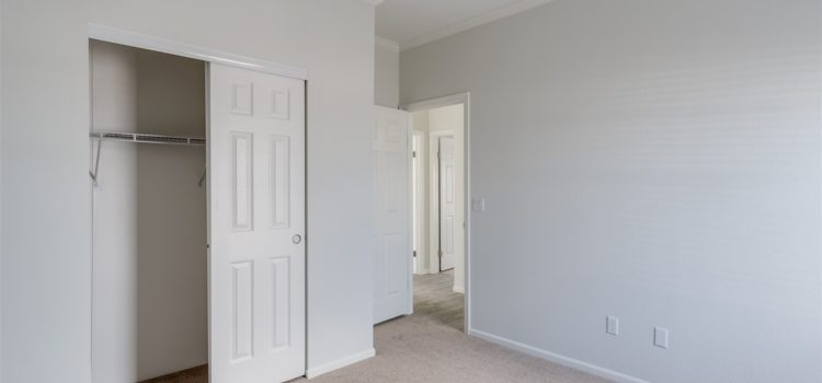 Guest room with ample closet space