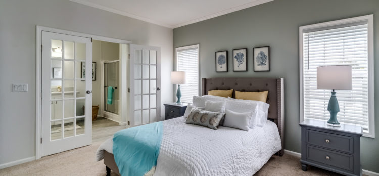 Master bedroom with french doors
