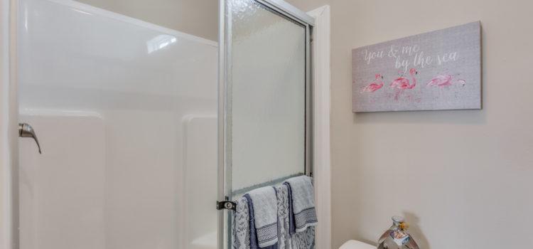 Large shower...