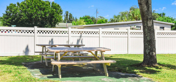 Our picnic area is the perfect place to gather with friends
