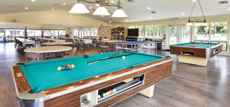 Enjoy billiards and more at our friendly clubhouse