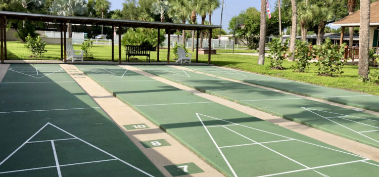 Don't miss our shuffleboard tournaments