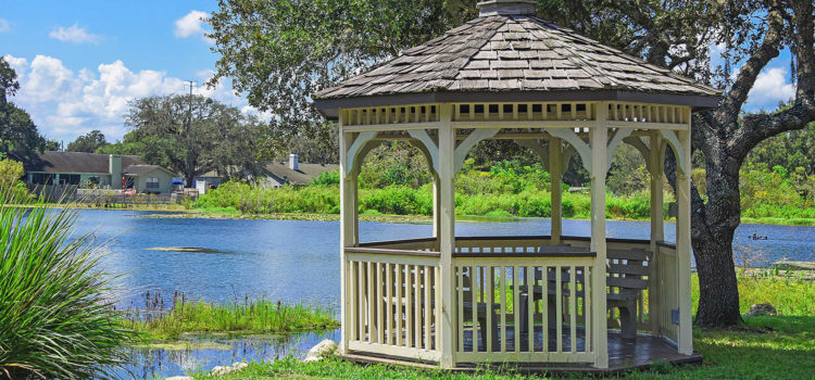 Our gazebo is the perfect retreat
