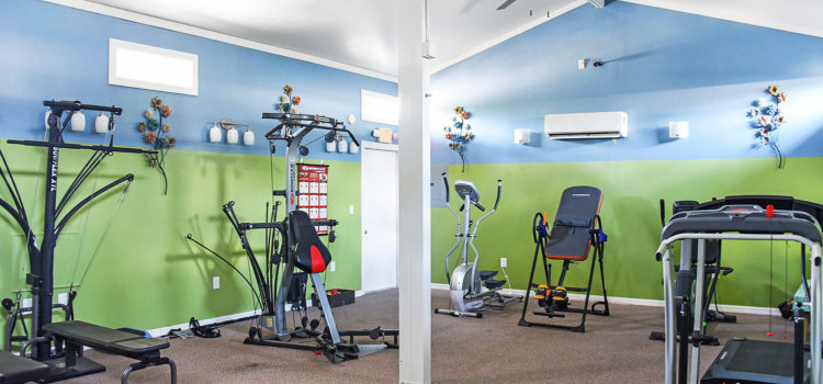 Work out till your heart's content at our exercise room