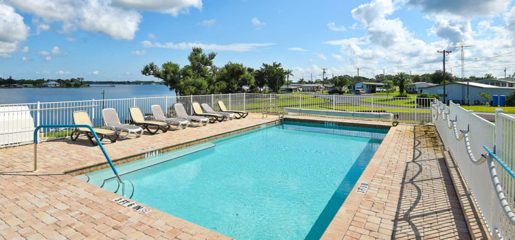 Take a dip in our lakefront heated swimming pool