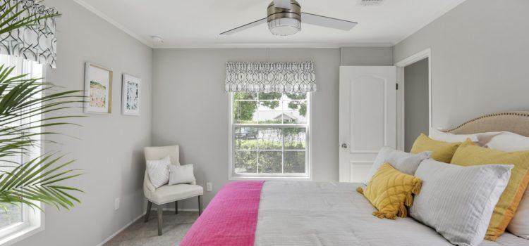 Bright, sunny master bedroom