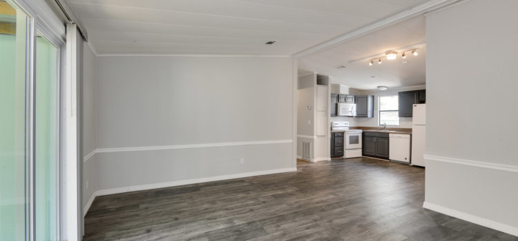 Living room opens to kitchen