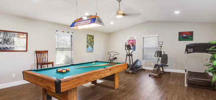 Shoot a game of pool or enjoy a quick workout