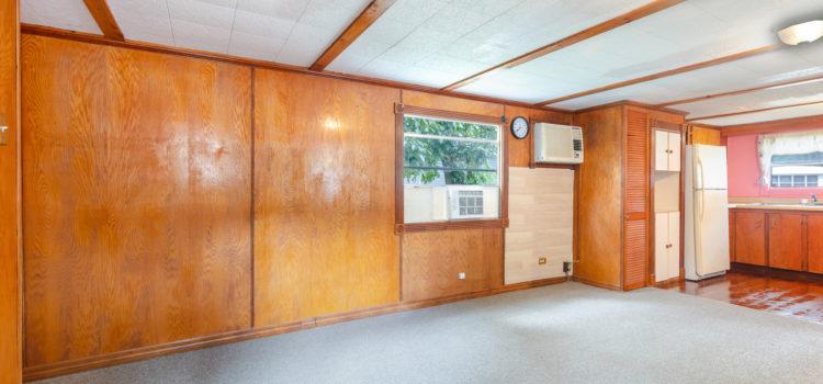 Classic wood paneled walls