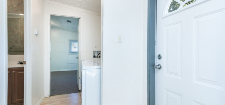 Access to utility room